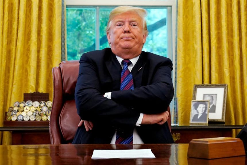 US President Donald Trump announces a bilateral trade agreement with Mexico to replace the North American Free Trade Agreement (Nafta) at the White House in Washington, US, on Aug 27, 2018.