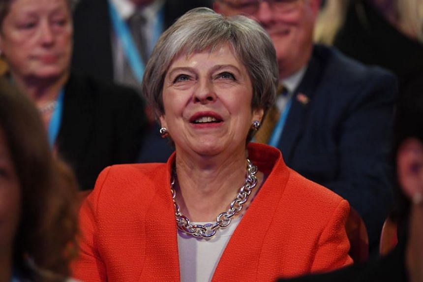 Britain's Prime Minister Theresa May attends the first day of the Conservative Party Conference in Birmingham, Britain, on Sept 30, 2018.