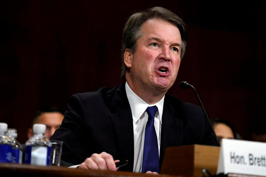 Supreme court nominee Brett Kavanaugh testifies before the Senate Judiciary Committee on Capitol Hill in Washington, DC, US, on Sept 27, 2018.