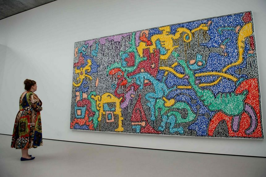 Untitled by artist Keith Haring, at the Pavilions, a new building at Glenstone museum.