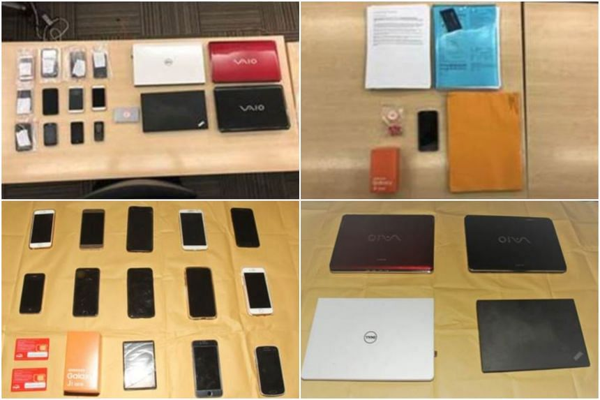 Several laptops and mobile phones were seized from the man in connection with the case.