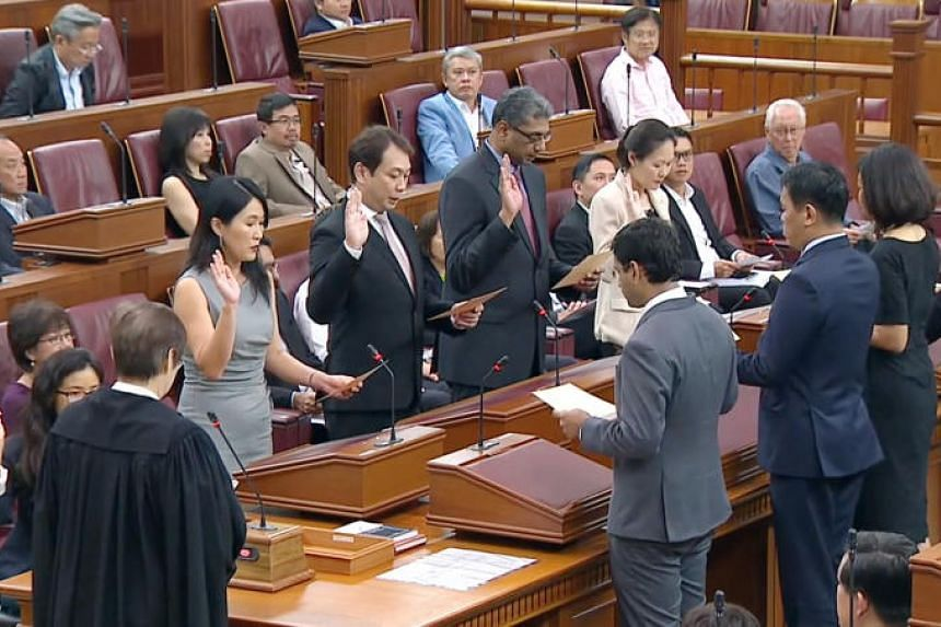 The new cohort of Nominated MPs attended its first Parliament sitting on Oct 1, 2018.