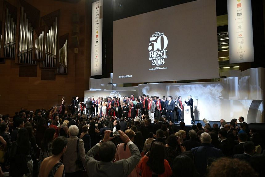 The annual World's 50 Best Restaurants awards ceremony will be held in Singapore next year. This year's ceremony (above) took place in Bilbao, Spain.