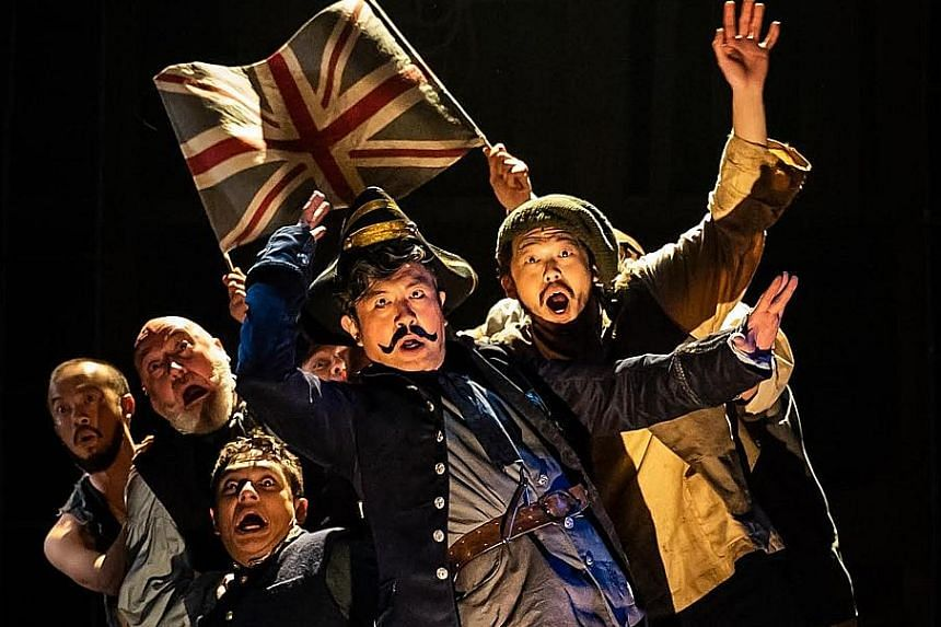 From left: Crispian Chan, Daniel Jenkins, Zachary Ibrahim, Adrian Pang and Benjamin Chow in Peter And The Starcatcher.