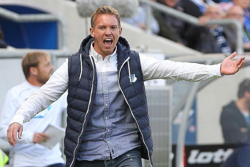 Hoffenheim coach Julian Nagelsmann will be hoping to outwit his Manchester City counterpart Pep Guardiola.