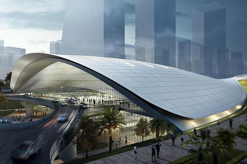 An artist's impression of the HSR Terminal in Jurong East. The deferment was done in the spirit of bilateral cooperation, said Mr Khaw Boon Wan.
