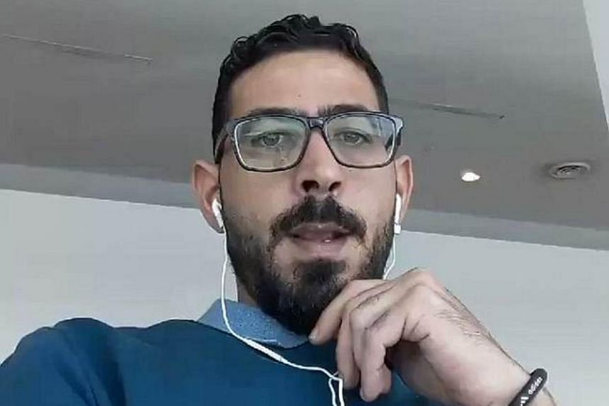 Syrian Hassan al-Kontar has been stranded at the budget terminal of Kuala Lumpur International Airport since March 7, 2018.