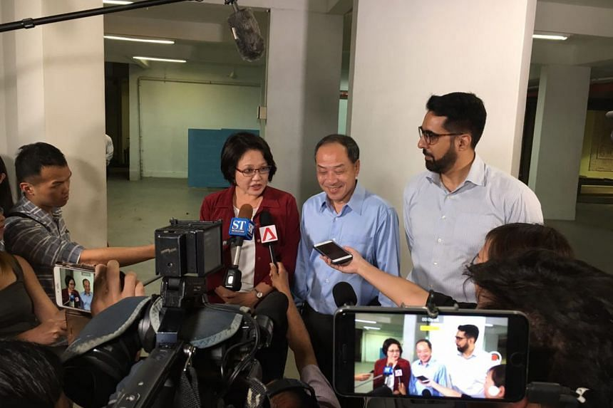 The trial for the lawsuits will see (from left) WP chairman Sylvia Lim, former WP chief Low Thia Khiang and current leader Pritam Singh take the stand.