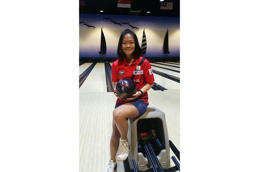 Shin Zong Yi (above) put together a six-game total pinfall of 1,292 which included a perfect 300 in her final game.