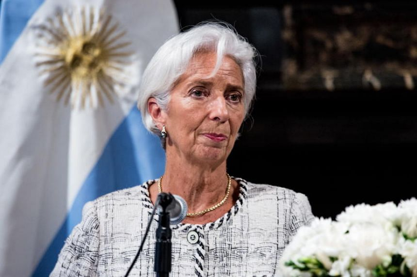 International Monetary Fund Managing Director Christine Lagarde during a press conference in the Argentinian Consulate in New York, US, on Sept 26, 2018.