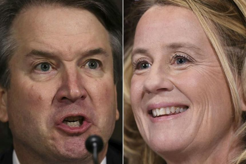 Dr Christine Blasey Ford had accused Supreme Court nominee Brett Kavanaugh (left) of sexually assaulting her at a party 36 years ago.