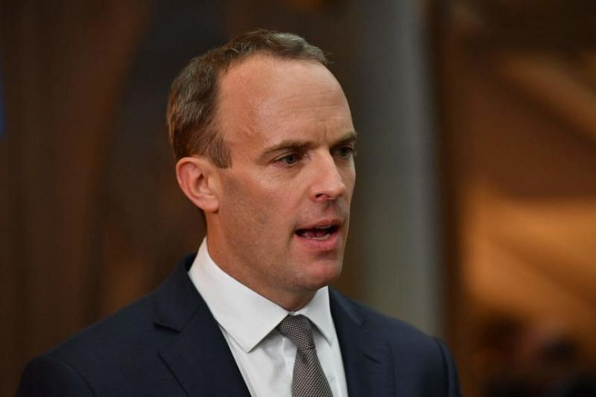 Britain's Secretary of State for Exiting the European Union (Brexit Minister) Dominic Raab is interviewed on the second day of the Conservative Party Conference 2018 at the International Convention Centre in Birmingham, on Oct 1, 2018.