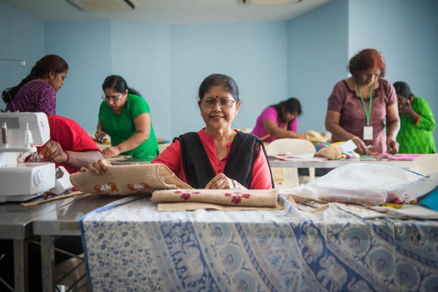 Tamil language teacher, G Rajalaximi, 71, is a volunteer at Project Smile, a charity that helps underprivileged women by providing vocational skills training such as in jewellery making and handicraft classes.