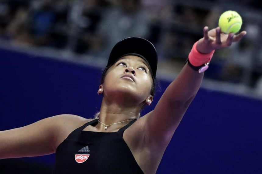 US Open champion Naomi Osaka is the third singles player to qualify for the WTA Finals in Singapore, to be held from Oct 21 to 28, 2018. PHOTO: EPA