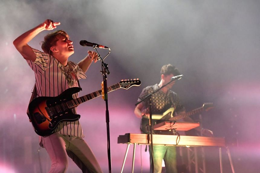 Indie quartet Glass Animals performing at the Laneway Festival in Singapore in 2017.