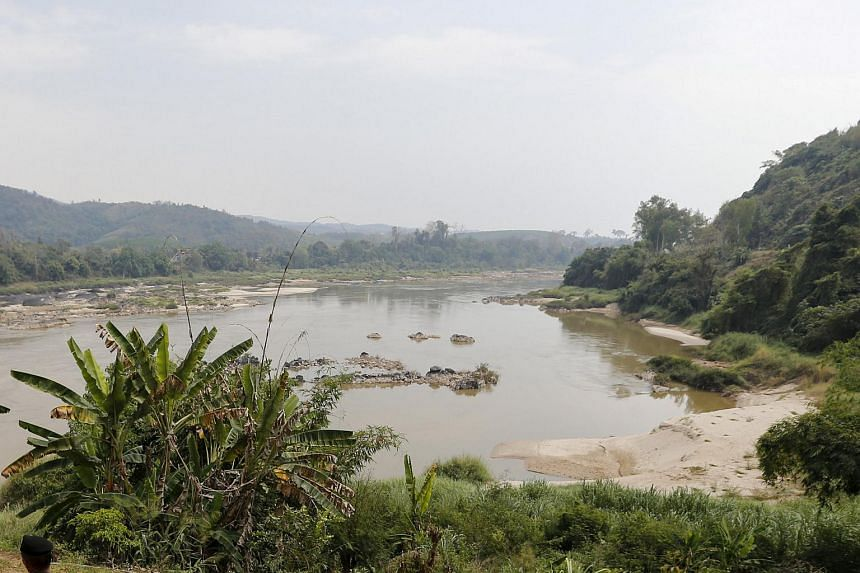 A general view of the Mekong river at the border between Thailand and Laos.