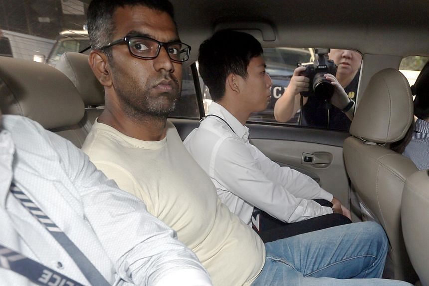 Nagarajan Balajee was charged with attempting to commit extortion and faces a jail term of between two and five years and caning, if found guilty.