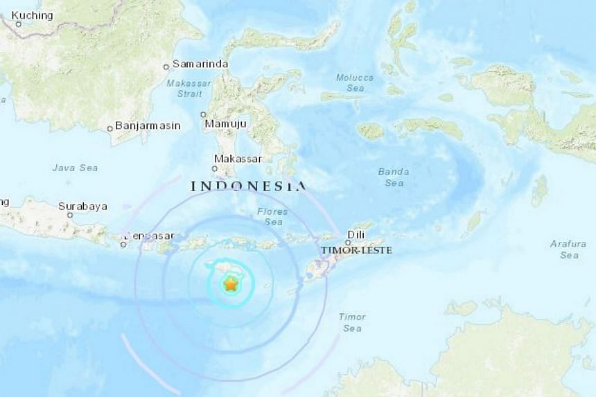 The quake, which had a preliminary magnitude of 6.2, hit about 250km south-west of Ende on Flores. It was later downgraded by the USGS to a magnitude of 5.9.