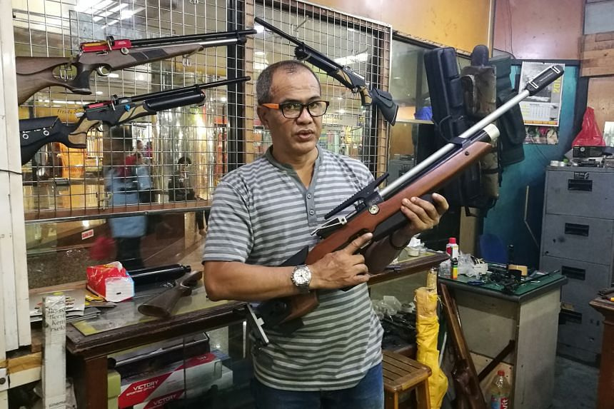 Customers are increasingly picking local products over imported ones, according to hobby shop owner Iwan Setiawan, who sells air rifles in Pasar Baru in North Jakarta. Sales of the rupiah have risen by about 30 per cent in the past month at Dua Sisi,