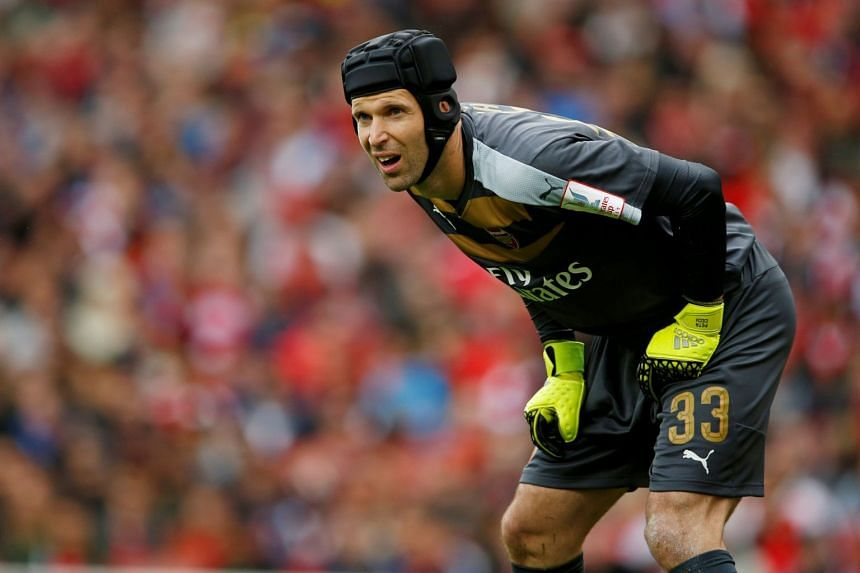 Arsenal's Petr Cech in action during a pre-season friendly.
