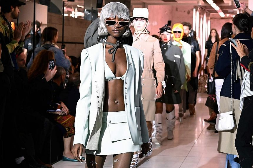 Courreges unveiled its latest Spring/ Summer collection in its Paris shop last week.