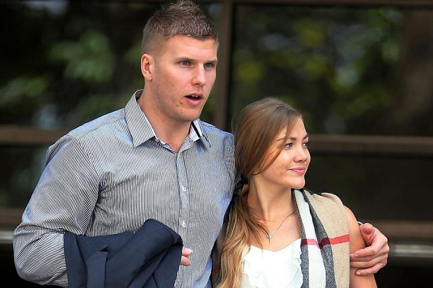 Australian Males Milan and his Russian wife Filimonova Svetlana will be sentenced on Nov 1 after being convicted yesterday over an incident at a nightclub in One Raffles Place in May last year.