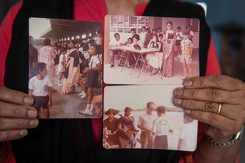 Photos from the 1970s, 1980s and 1990s of Madam Rajalaximi when she was a teacher. The former Tamil language teacher began her career at Boon Lay Primary School in 1966. Madam G. Rajalaximi, who retired from teaching in 2011, now volunteers at Projec