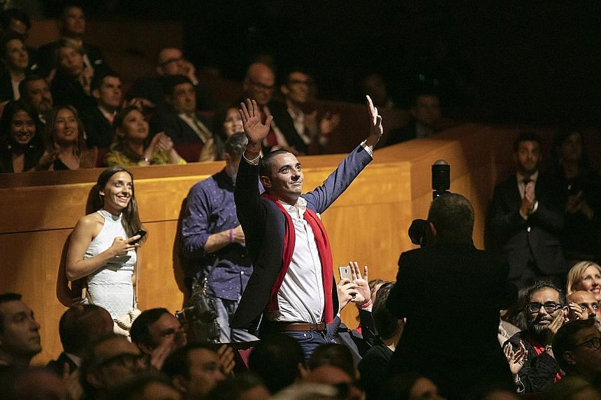 French restaurant Odette's chef-owner Julien Royer at the World's 50 Best Restaurants award ceremony in the Spanish city of Bilbao in June. One of Singapore's top restaurants, Odette debuted at No. 28 in the 2018 rankings.