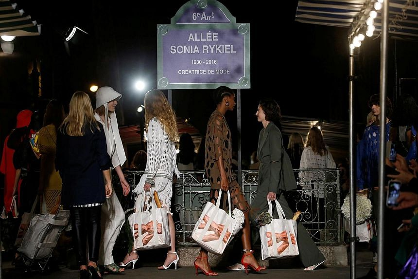 The new Allee Sonia Rykiel was the location of the fashion label's show last Saturday.