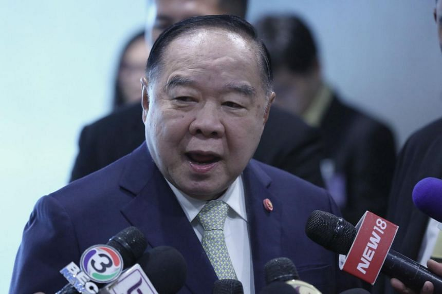 """""""If you ask whether the election will be delayed, well, it is only others who are saying this, not the government,"""" said Thailand's deputy prime minister Prawit Wongsuwan."""