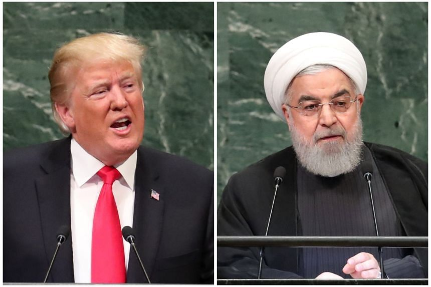 President Donald Trump and Iranian President Hassan Rouhani faced off at the UN in September.