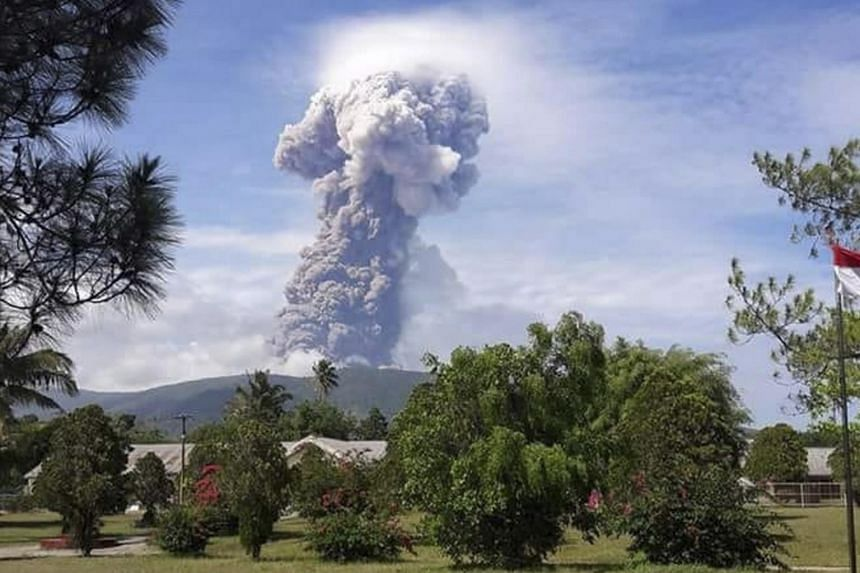 Mount Soputan is located about 900km north-east of the quake ravaged region and there were no immediate reports of any casualties from the volcanic eruption.