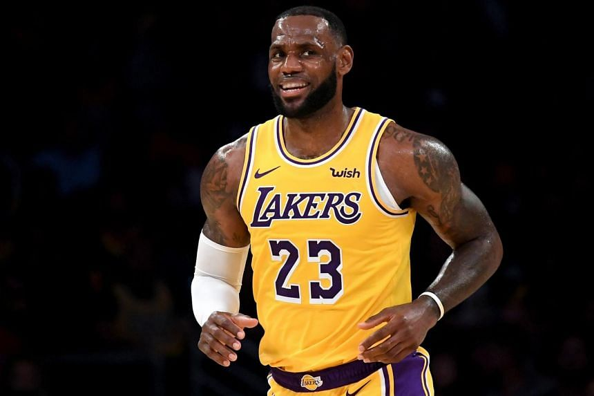 LeBron James joined the Lakers in July from the Cleveland Cavaliers on a four-year deal.