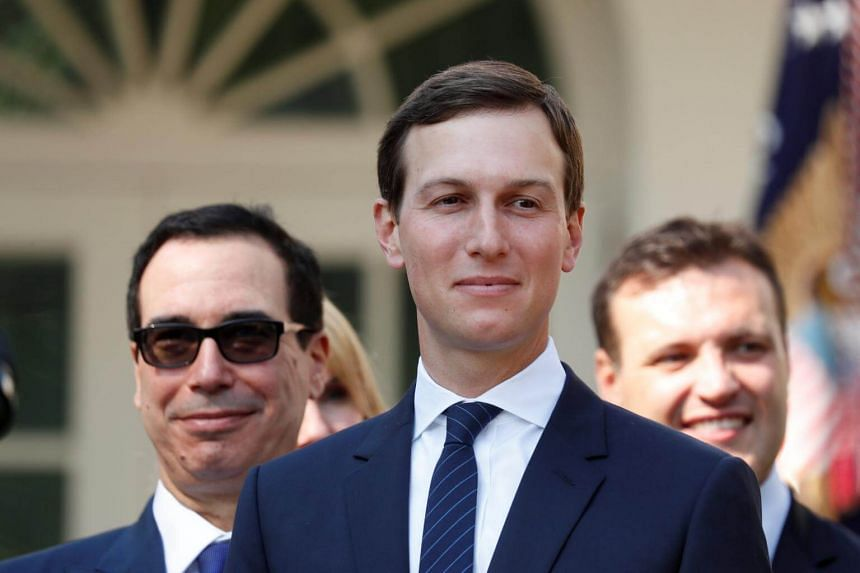 US President Donald Trump had asked his son-in-law, Jared Kushner (centre), to help out on trade early in the presidency, especially on Canada and Mexico.