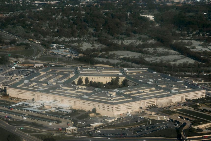 At least two suspicious packages, addressed to someone in the Pentagon (above), were intercepted at a screening centre.