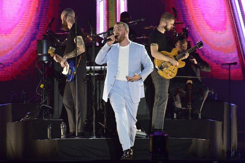 British pop-soul singer Sam Smith performing at the Singapore Indoor Stadium, on Oct 2, 2018.