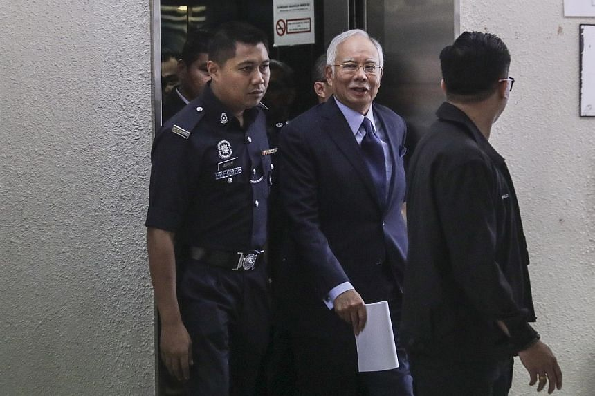 Former Malaysian prime minister Najib Razak arriving at the High Court in Kuala Lumpur, on Sept 20, 2018.