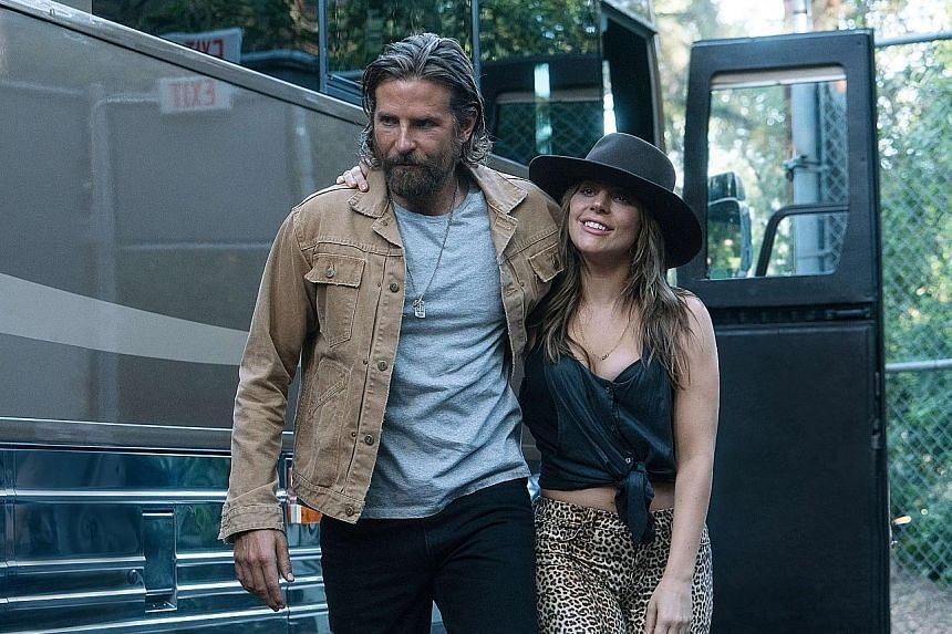 Bradley Cooper plays a country-rock hero enamoured with waitress Ally, played by Lady Gaga.