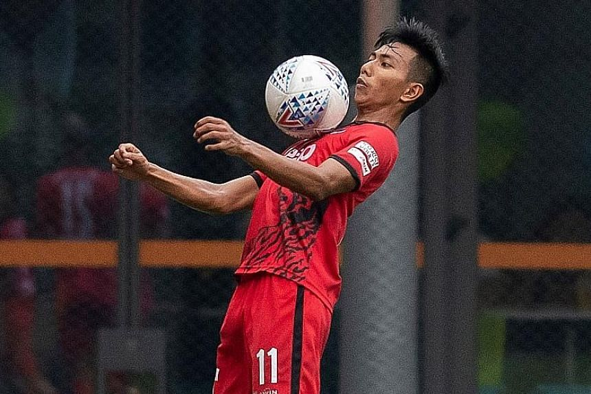 Balestier Khalsa's Huzaifah Aziz is focusing on doing well after earning his first call-up to the national team.