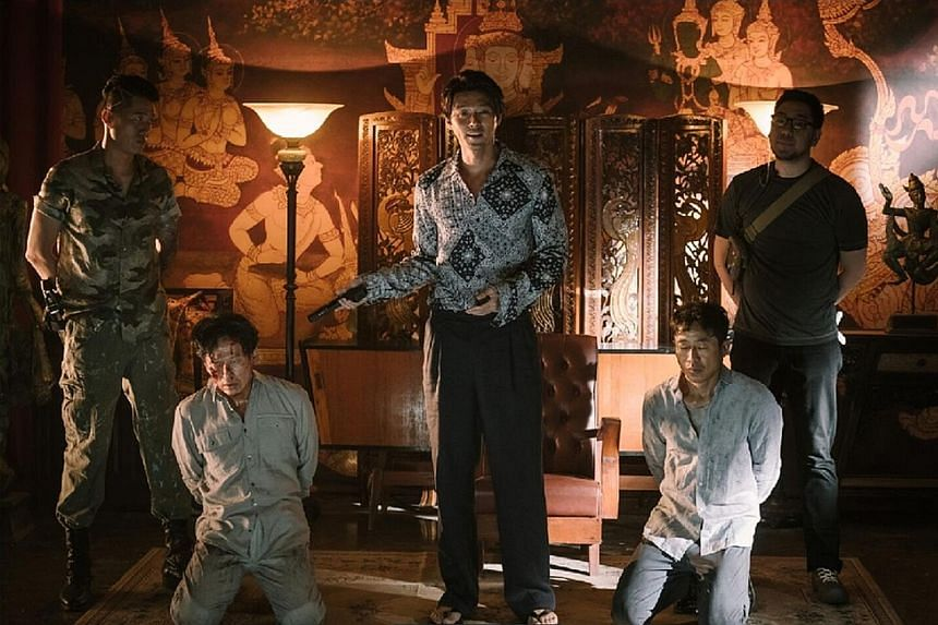 Hyun Bin (centre) turns in a convincing portrayal as a kidnapper.