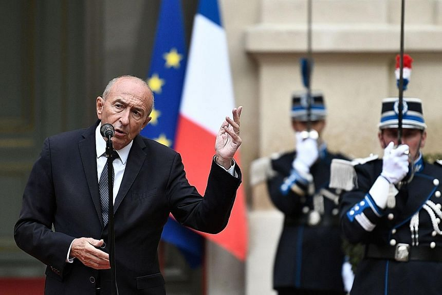 Mr Gerard Collomb quit as France's Interior Minister yesterday, the third minister to resign in two months. His departure adds to the woes of President Emmanuel Macron, who faces record low approval ratings.