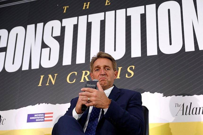 Republican Senator Jeff Flake said he was worried about the performance of Mr Brett Kavanaugh, a conservative federal appeals court judge, before the Senate Judiciary Committee last Thursday.