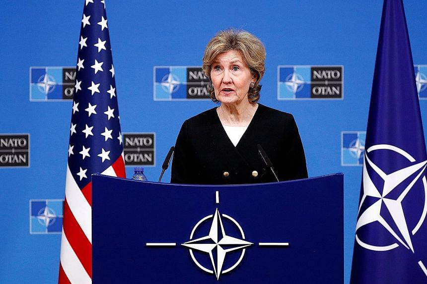 """US envoy Kay Bailey Hutchison on Tuesday said Russia has over """"several years"""" refused to accept US evidence of treaty breaches, so """"we need to look for other ways to bring Russia to the table on the issues""""."""