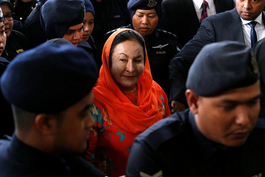 Datin Seri Rosmah Mansor arriving at the Kuala Lumpur's Sessions Court 9 with a team of investigators, on Oct 4, 2018.