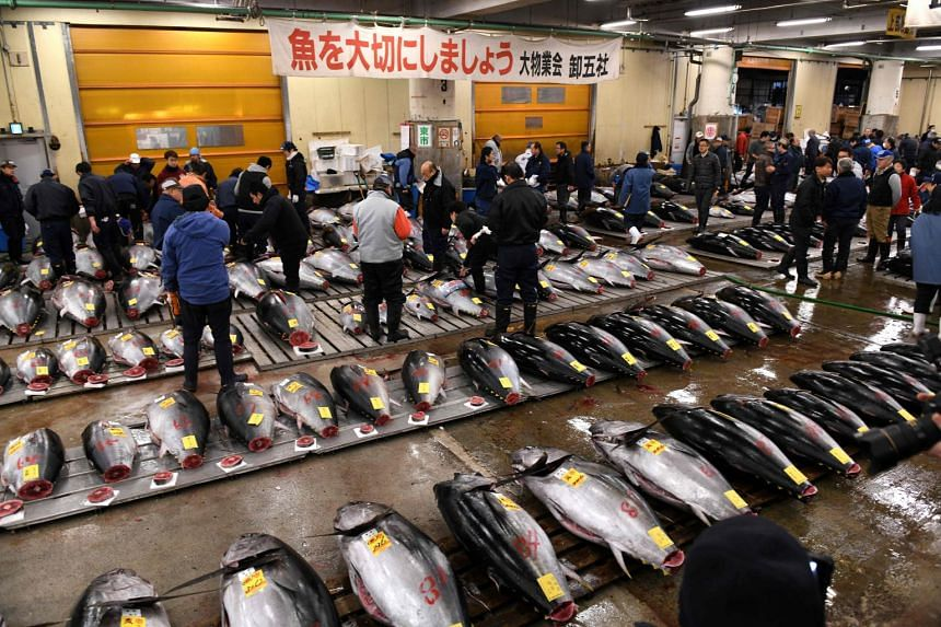 Traders will sell their last wares at Tsukiji's inner market on Oct 6, shutting up shop after one final tuna auction.