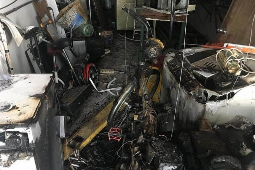 The electric bicycle is believed to have been in the store's pantry area when the fire broke out.