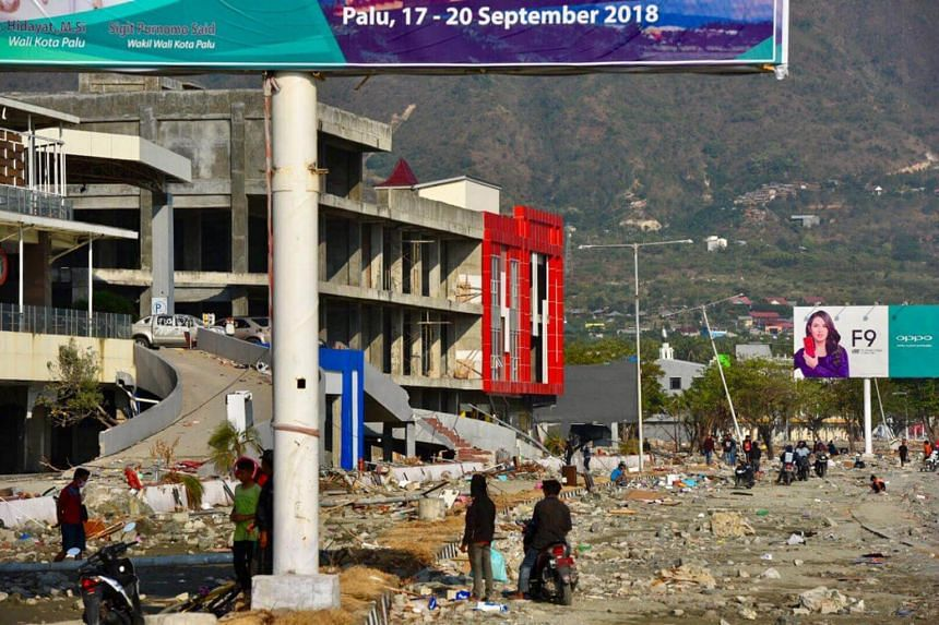 Scenes of devastation caused by the earthquake and tsunami in Palu, Indonesia, on Oct 3, 2018.