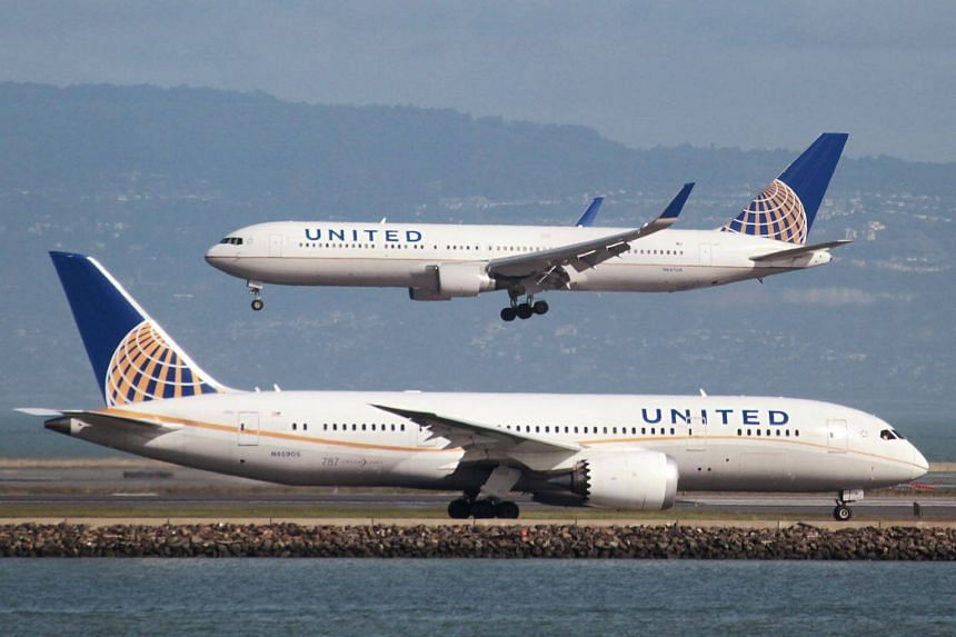 File photo of United Airlines planes at San Francisco International Airport, on Feb 7, 2015.