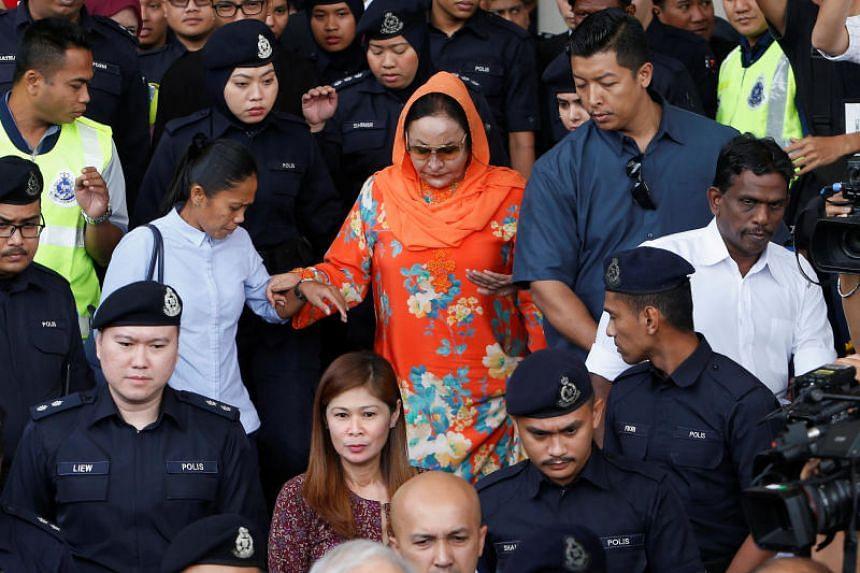 Datin Seri Rosmah Mansor leaving the Kuala Lumpur's Sessions Court 9 on Oct 4, 2018.