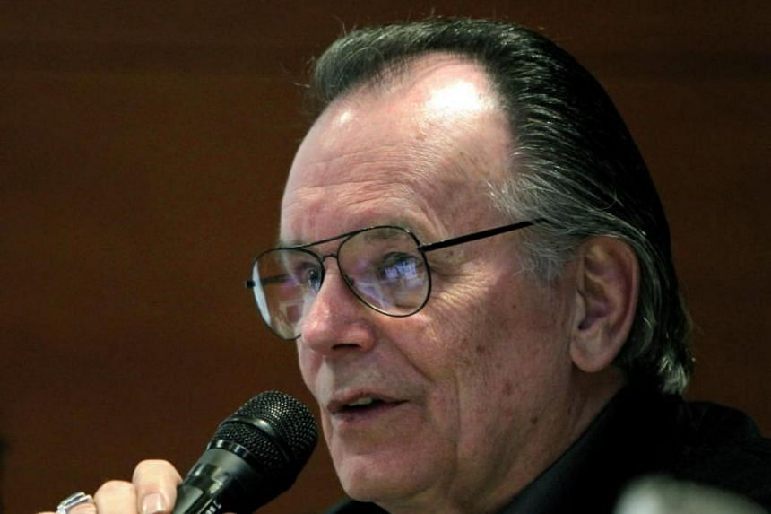 US filmmaker Gary Kurtz, producer of 'Stars Wars' and 'The Empire Strikes Back' speaks at a conference in Bogota, Colombia, on Feb 29, 2012.